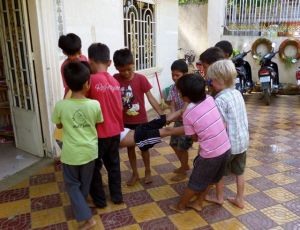 Playtime with the boys at CAD1, Battambang Cambodia